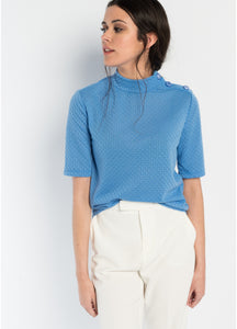 JERSEY WITH BUTTONS IN THE SHOULDER - royalbee.uk