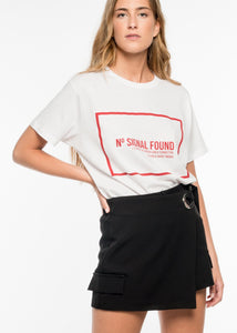 RED TEXT T-SHIRT BY ROYALBEE UK