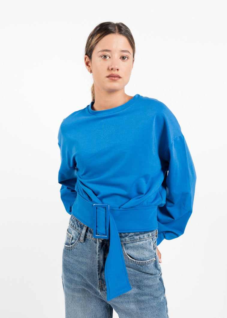 SWEATSHIRT SHORT BELT BY ROYALBEE.UK