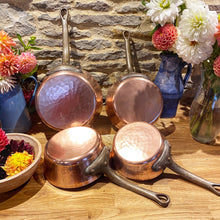 Load image into Gallery viewer, Gaillard Paris professional set of French antique copper pans - set of 4 very heavy gauge