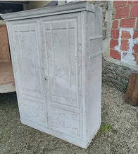 Load image into Gallery viewer, Original french antique Boulangerie cupboard with four interchangeable wooden drawers