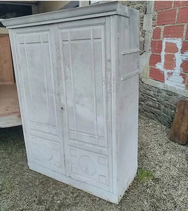 Original french antique Boulangerie cupboard with four interchangeable wooden drawers