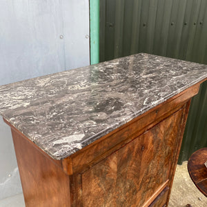 French marble top secretaire