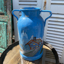 Load image into Gallery viewer, French painted milk churn