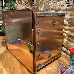 Beautiful French copper medical sterilising cabinet