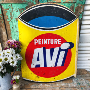 French metal double sided advertising sign