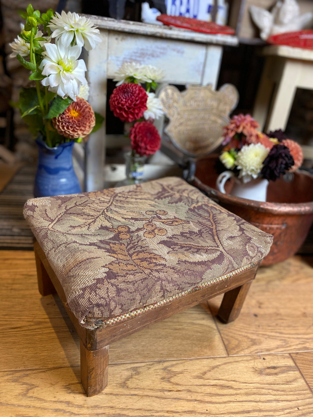 French vintage footstool