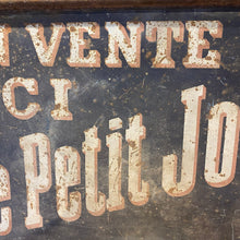 Load image into Gallery viewer, French vintage double sided metal sign