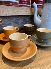 Load image into Gallery viewer, Set of 4 small French coffee cups and saucers