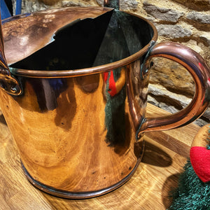 Beautiful large vintage copper watering can