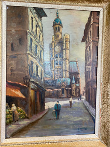 French oil on board signed
