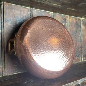French vintage copper bowl with double handles