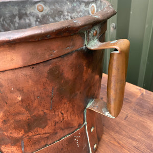 Very rare French double handled military copper measuring pot circa 1800
