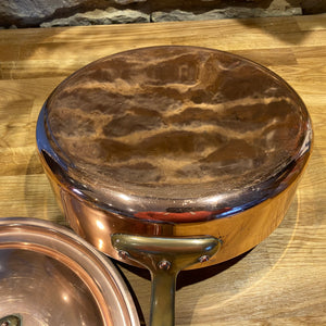 Beautiful French copper sauté pan with lid