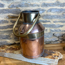 Load image into Gallery viewer, French vintage copper and brass milk churn