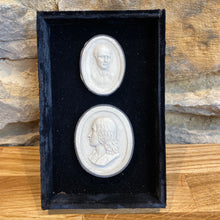 Load image into Gallery viewer, Lovely plaster relief in a velvet boxed frame