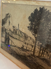 Load image into Gallery viewer, Vintage French framed Reginald Green etching