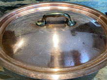 Load image into Gallery viewer, French copper tin lined casserole cooking pot with lid
