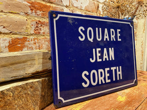 Original vintage French enamel street sign