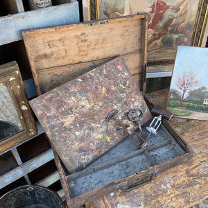 French art box and palette