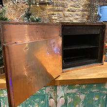 Load image into Gallery viewer, Beautiful French copper medical sterilising cabinet