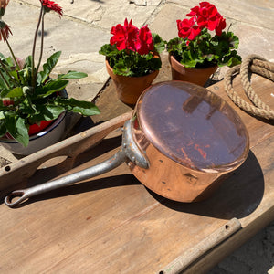 French antique copper pan