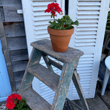 Load image into Gallery viewer, Vintage Wooden Stepladder