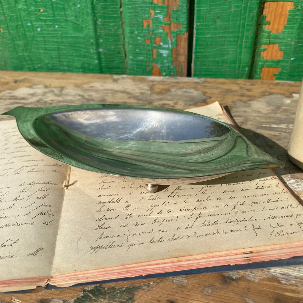 Silver plate marker dish