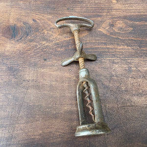 French metal vintage corkscrew