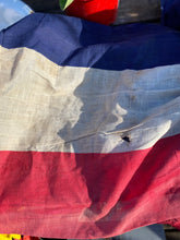 Load image into Gallery viewer, French tricolor WWII balcony flag banner