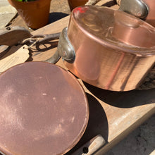 Load image into Gallery viewer, French antique copper pans set of 6
