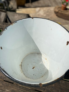 White enamel bucket