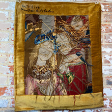 Load image into Gallery viewer, Hand knotted French embroidered tapestry (crewel work)