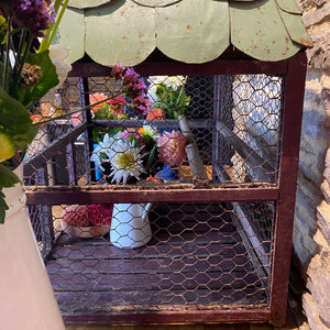 French birdcage with handmade zinc tiles