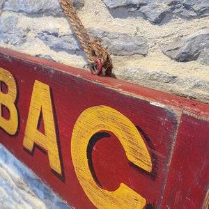 Tabac vintage style hand painted wooden sign
