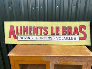 French metal sign