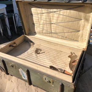 Beautiful bent wood steamer trunk
