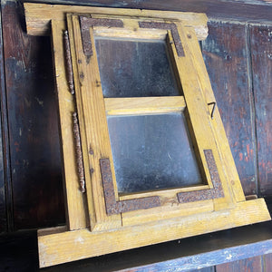 Small European wooden window frame