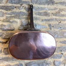Load image into Gallery viewer, French vintage heavy gauge copper poaching pan