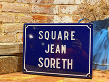 Load image into Gallery viewer, Original vintage French enamel street sign