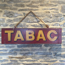 Load image into Gallery viewer, Tabac vintage style hand painted wooden sign
