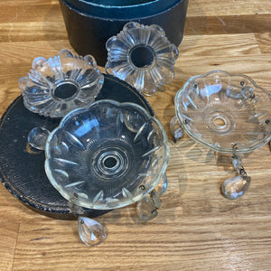 Small French chandelier parts and drops