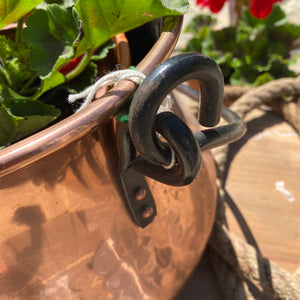 French copper cauldron