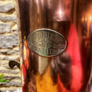 French antique copper coffee urn
