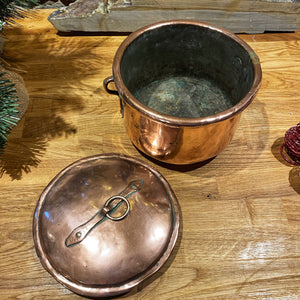 French copper pot with lid