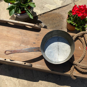 French vintage copper pan