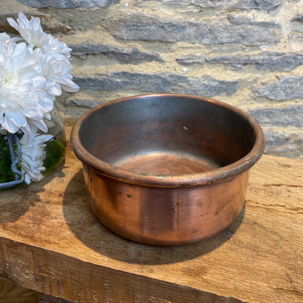 French vintage copper cake/bread tin