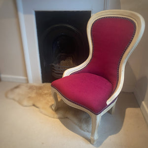French bedroom salon chair recently upholstered