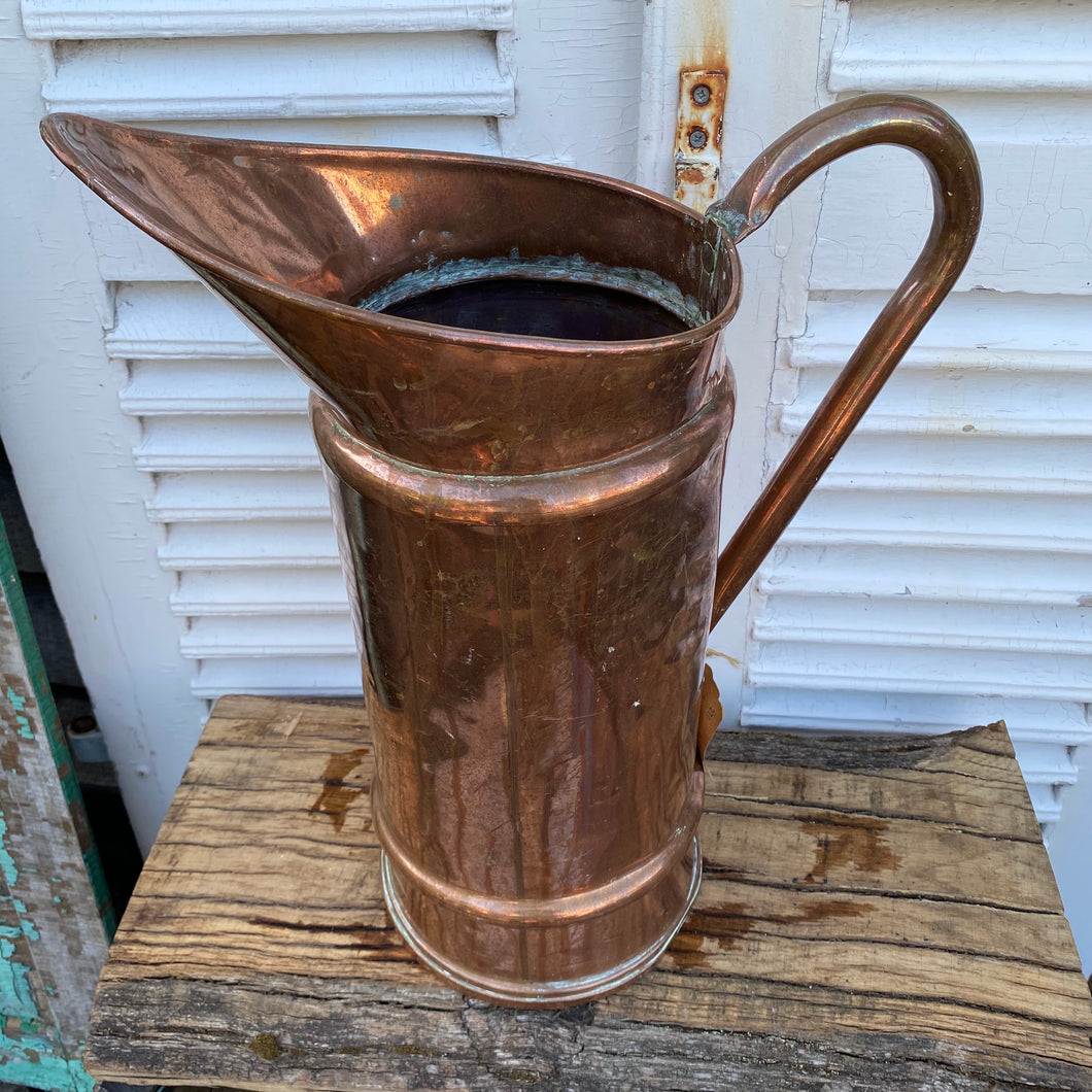 French copper large jug