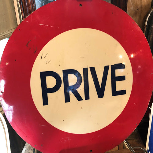 French Prive Sign
